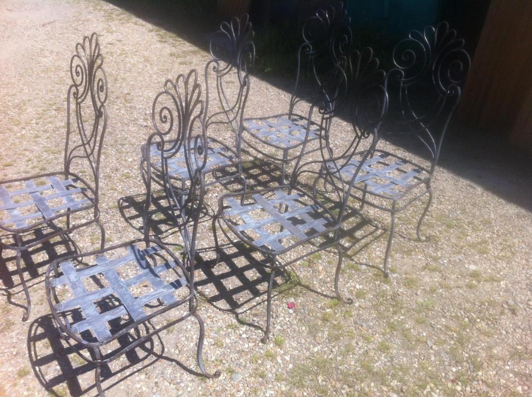 décapage de chaises métal